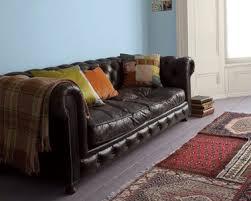 peinture pour canap en cuir déco salon bleu de belles idées pour s inspirer déco cool com