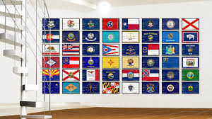 Ohios State Flag Ohio State Home Decor Man Cave Wall Art Collectible Decoration
