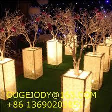 tree branch centerpiece lighting wedding centerpiece with manzanita tree branches for