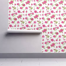 shabby chic roses wallpaper katarina spoonflower 64 roll l