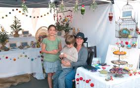 a christmas craft faire for needle felted ornaments the magic onions