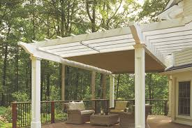 Pergola Shade Covers by Pergola With Retractable Shade Canopy Home Design