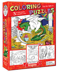 dragons for children dragons coloring puzzles outset media