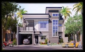 Two Storey Modern House Front View Designs Philippines Home Design