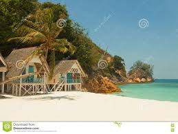 incredible landscape of little tropical island beach with nice