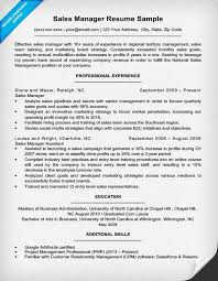 manager resumes exles sales manager resume sle writing tips resume companion