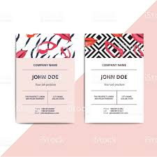 trendy abstract business card templates modern luxury beauty salon