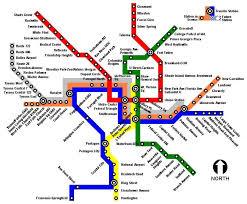 dc metro rail map dc metro map my