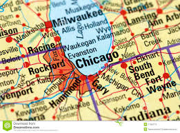 City Of Chicago Map by Chicago On The Map Royalty Free Stock Photo Image 11580775