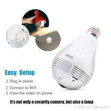 motion detector light with wifi camera hd wifi led bulb camera globe panorama cam 360 degree light bulb p2p