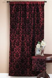 a shower curtain created in burgundy and black useful