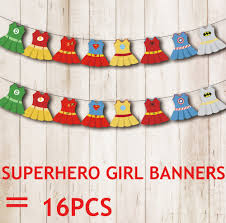 aliexpress com buy superhero banners baby shower birthday