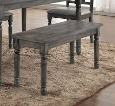 acme wallace dining table weathered blue washed weathered blue washed wood bench by acme