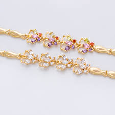 bracelet designs gold images Women rose gold plating tanishq new gold bracelet designs view jpg