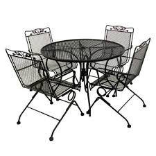 5 piece patio table and chairs impressive on 5 piece wrought iron patio set home remodel pictures