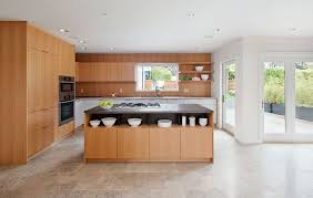 contemporary kitchen with french doors u0026 european cabinets in