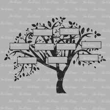 family tree 9 names svg dxf eps family tree files family tree