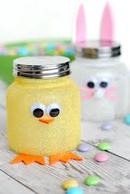 homemade easter decorations for the home cute easter craft easy easter candy jars crazy little projects