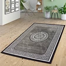 versace wohnzimmer teppich wohnzimmer glitzer garn modern bordüre versace design in
