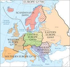 Sfsu Map Lc G Schedule Map 18 Europe Regions Waml Information Bulletin