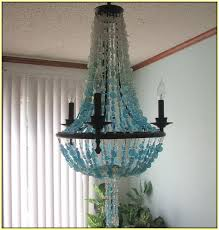 Beach Glass Chandelier Sea Glass Chandelier Lighting Home Design Ideas