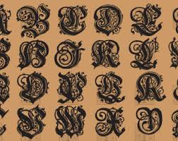 ornamental letters etsy