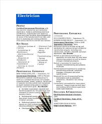 exles of electrician resumes resume template for electrician resume sle