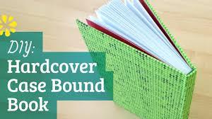 diy hardcover book case bookbinding tutorial sea lemon youtube