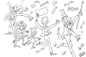 charlie and the chocolate factory colouring pages funycoloring