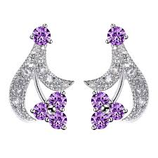 styles of earrings yan mei statemennt trendy earring korean style plant shape cz