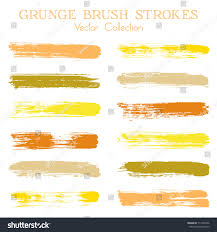 watercolor ink paint brush stroke lines stock vector 717398746
