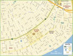 Louisiana City Map by New Orleans Garden District Map