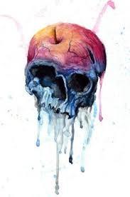skull watercolor tattoo google search art pinterest