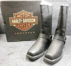 genuine harley hustin mens slip on motorcycle boots size 8 d95354