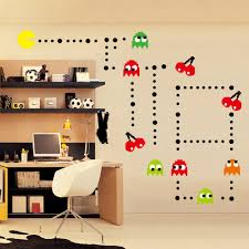 amazon com homeevolution giant super mario build a scene peel and ufengke cartoon pac man games wall decals children s room nursery removable wall stickers