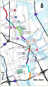San Jose District Map by Coyote Creek Flood Protection Planning Study Phase Santa Clara