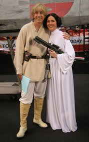 Princess Leia Halloween Costume Meredith Viera Princess Leia Matt Lauer Luke Skywalker