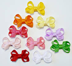 ribbon hair bow infant hair bow set newborn small tiny childrens