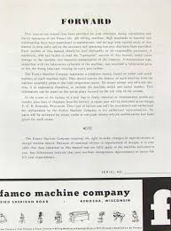 manual clausing kondia mill famco model 100 milling machine operator u0026 parts manual ozark