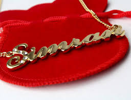 plated name necklace karat gold plated name necklace simran