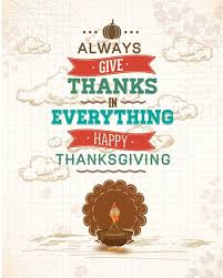 free vector give thanks in everything happy thanksgiving poster