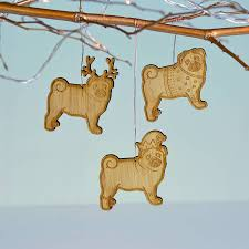 pug bamboo tree decoration by oakdene designs