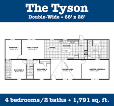 double wide floor plans 4 bedroom 3 bath 4 bedroom single wide