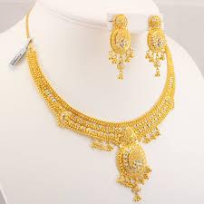 gold set 22 carat indian gold necklace set 46 6 grams gold forever