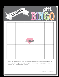 bridal shower gift bingo printable bridal shower bingo cards print from home