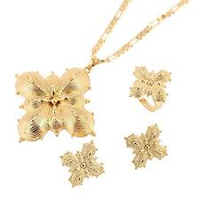 new gold set new jewelry set 24k gold plated