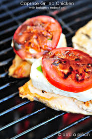 Summer Lunch Menu Ideas For Entertaining - this grilled chicken caprese recipe makes an easy yet elegant