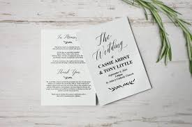 folded wedding programs free wedding program templates wedding program ideas