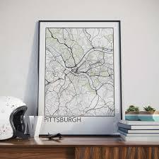 Pennsylvania City Map by Pittsburgh Pennsylvania Minimalist City Map Print U2013 The