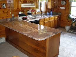 Furniture Dark Starmark Cabinets With Merola Tile Backsplash And - Backsplash for santa cecilia granite